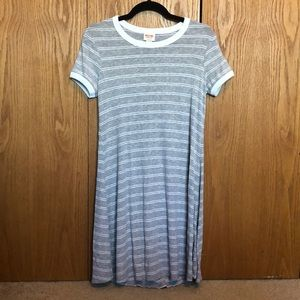 Mossimo gray and white striped T-shirt dress